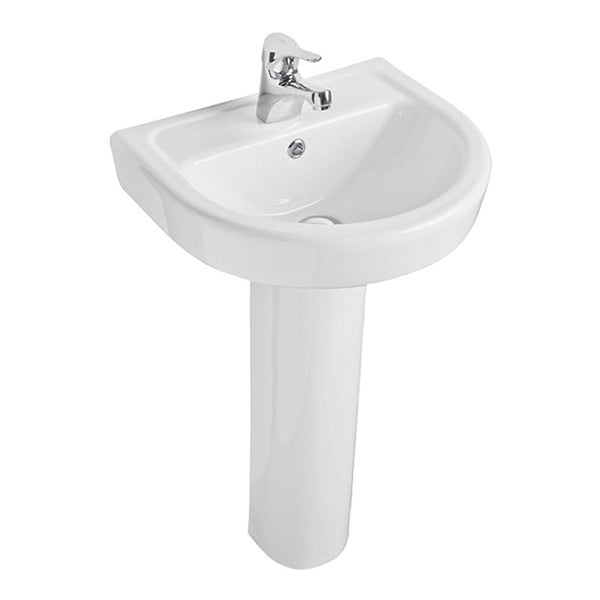 Radiant 550mm 1 Tap Hole Basin and Pedestal