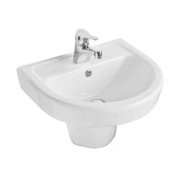 Radiant 460mm 1 Tap Hole Basin and Semi Pedestal