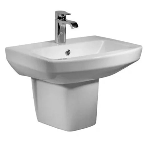 Aspire 550mm 1 Tap Hole Basin and Semi Pedestal