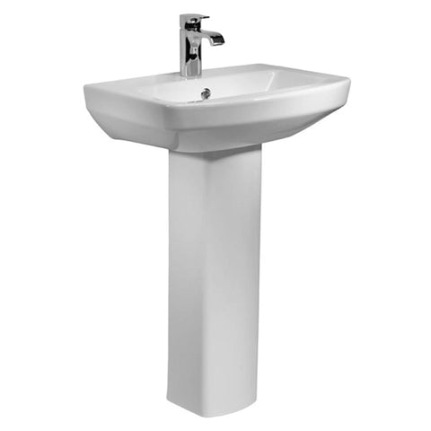 Aspire 550mm 1 Tap Hole Basin and Pedestal