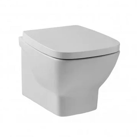 Elated Wall Hung Toilet WC Pan and Soft Close Toilet Seat