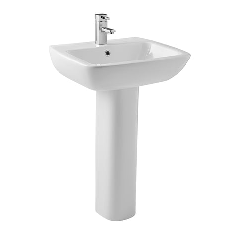 Elated 530mm 1 Tap Hole Basin and Pedestal