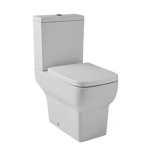Keen Close Coupled WC Toilet Pan, Close Coupled Dual Flush Cistern and Soft Close Toilet Seat