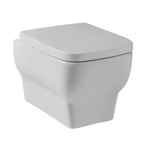Keen Wall Hung Toilet WC Pan and Soft Close Toilet Seat