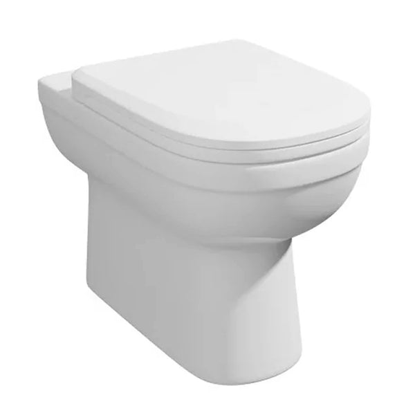 Light Back To Wall / Furniture Toilet Comfort Height Pan and Soft Close Toilet Seat