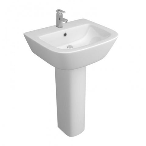 Flair 530mm 1 Tap Hole Basin and Pedestal