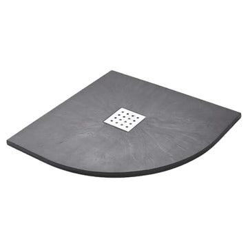 Power 900mm Quadrant Slate Shower Tray - Graphite