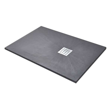 Power 1600mm x 800mm Rectangle Slate Shower Tray - Graphite
