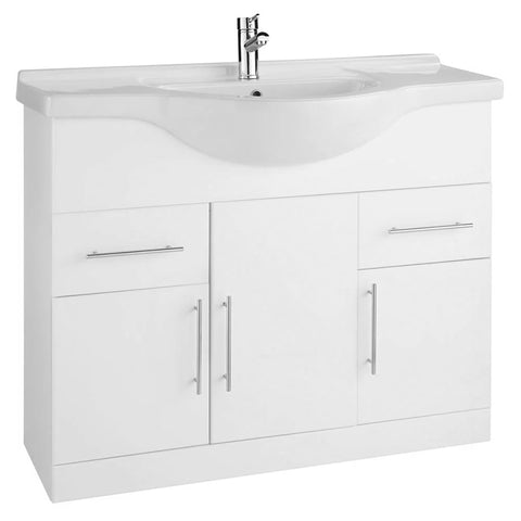 Innovate 1200mm Floor Standing Bathroom Vanity Unit and Basin - White