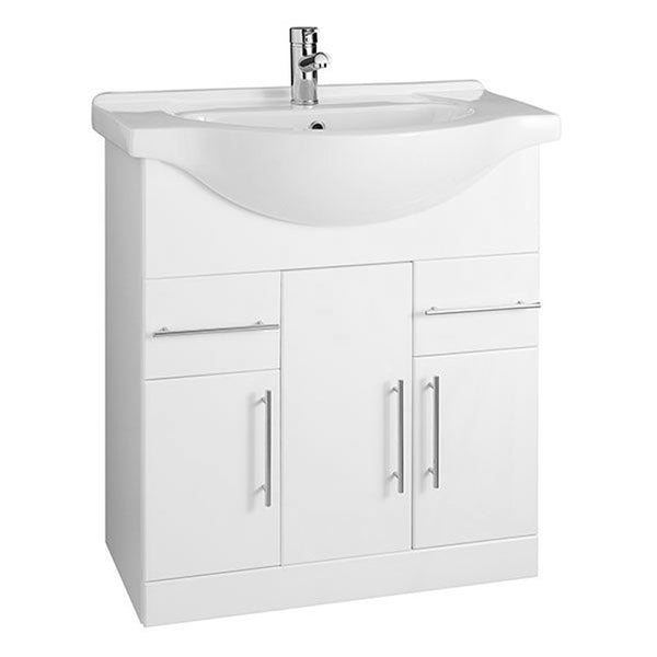 Innovate 850mm Floor Standing Bathroom Vanity Unit and Basin - White