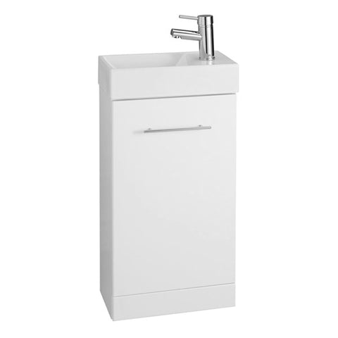 Innovate 410mm x 220mm Cube Cloakroom Bathroom Vanity Unit and Basin - White