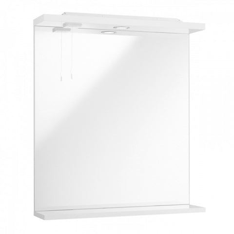 Innovate 550mm Bathroom Mirror with Lights - White