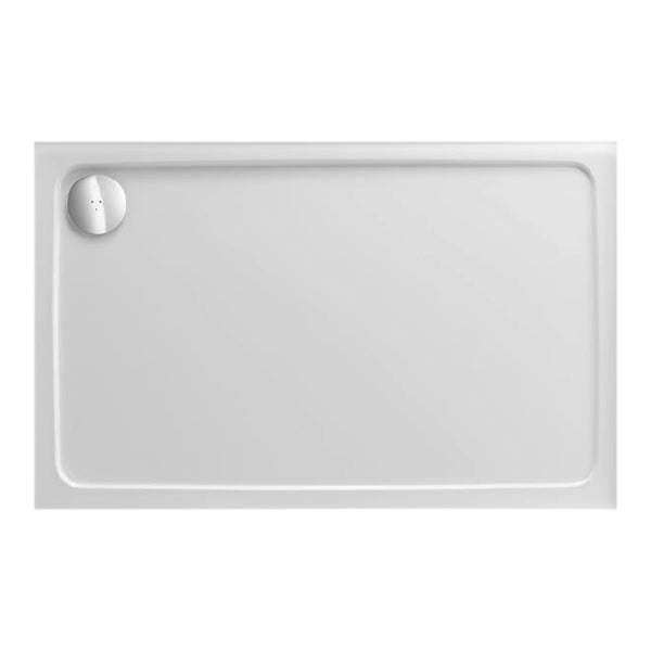 Power 900mm x 800mm Rectangle Stone Shower Tray and 90mm Fast Flow Waste