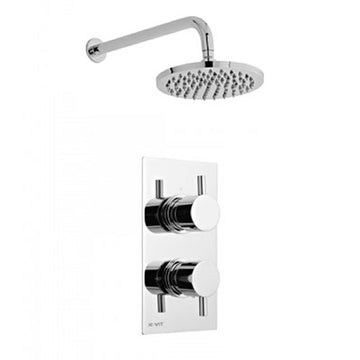 Precious Thermostatic Concealed Shower Valve with Fixed Overhead Drencher Shower Head