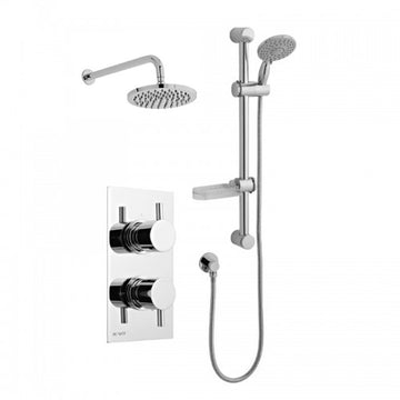 Precious Thermostatic Concealed Shower Valve with Adjustable Slide Rail Kit and Overhead Drencher Style Shower Head