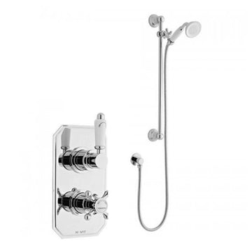 Vibrant Thermostatic Concealed Shower Valve with Adjustable Slide Rail Kit