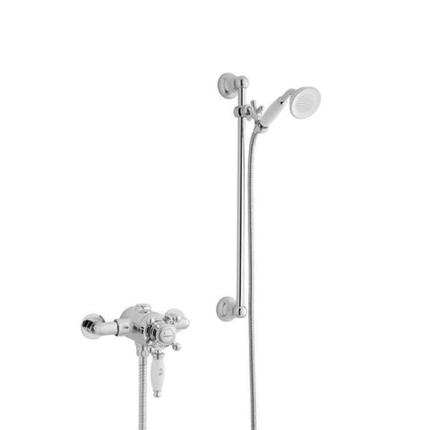 Vibrant Thermostatic Exposed Shower Valve with Adjustable Slide Rail Kit