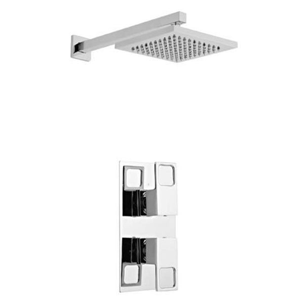 Kind Thermostatic Concealed Shower Valve with Fixed Overhead Drencher Shower Head