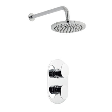 Loving Thermostatic Concealed Shower Valve with Fixed Overhead Drencher Shower Head