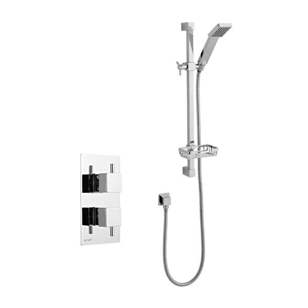 Prosper Thermostatic Concealed Shower Valve with Adjustable Slide Rail Kit