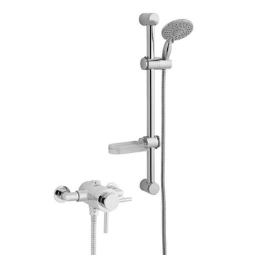 Precious Thermostatic Exposed Shower Valve with Adjustable Slide Rail Kit