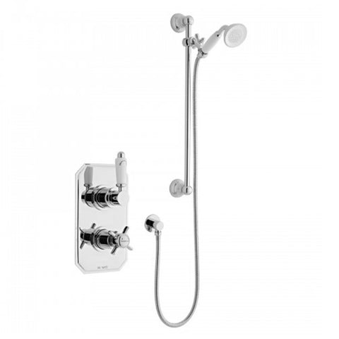 Timeless Thermostatic Concealed Shower Valve with Adjustable Slide Rail Kit