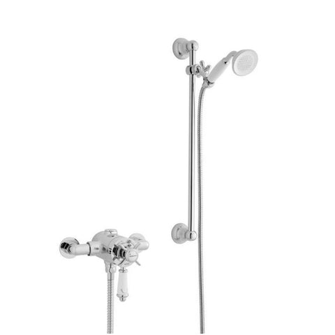 Timeless Thermostatic Exposed Shower Valve with Adjustable Slide Rail Kit