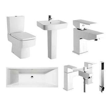 Decus Double Ended Bath Complete Bathroom Suite