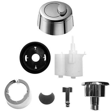 Grohe Eau2 Old Style Dual Flush Pneumatic Chrome Toilet Push Button Full Pack 42357PI0