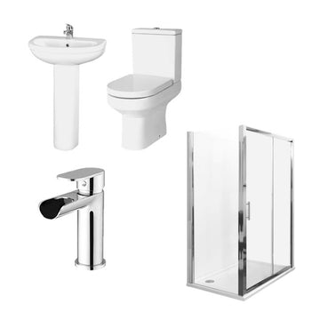 Ratio Rectangular Shower Enclosure Complete Bathroom Suite