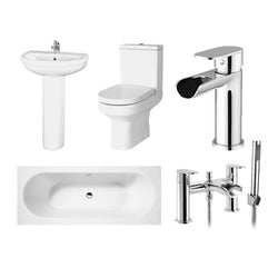 Rosa Double Ended Bath Complete Bathroom Suite