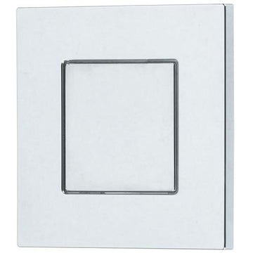 Thomas Dudley Vantage Piazza 73.5mm Square Single Flush Chrome Toilet Push Button 325277
