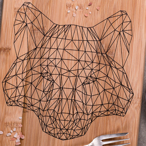 Wolf Wooden Cutting Board