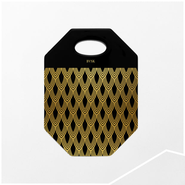 'Gold Feathers' Art Deco Ceramic Board - schmoo.shop