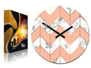 'Marble' Zigzag Wall Clock - schmoo.shop