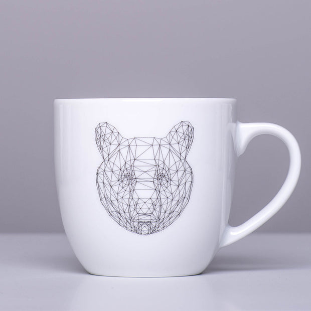 Geometric Bear Mug - schmoo.shop