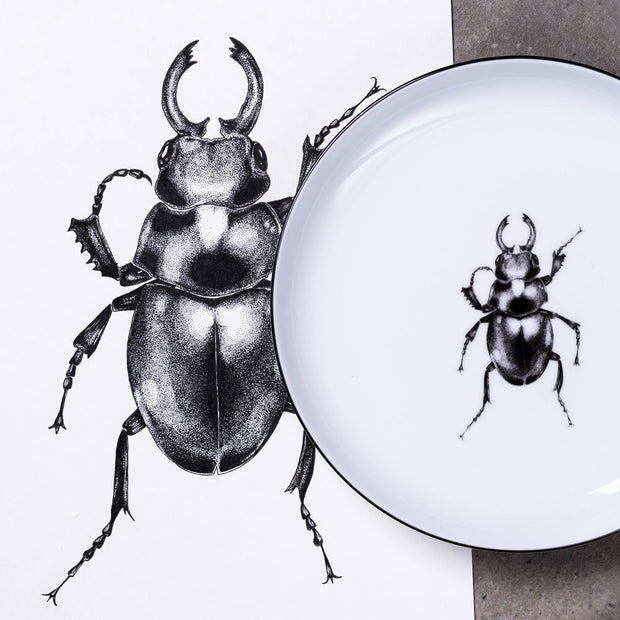 Beetle Dinner Plate - schmoo.shop