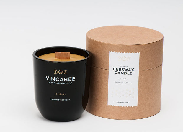Vinca Black Beeswax Candle - schmoo.shop
