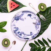 Tropical Blue Birds Dessert Plate - schmoo.shop