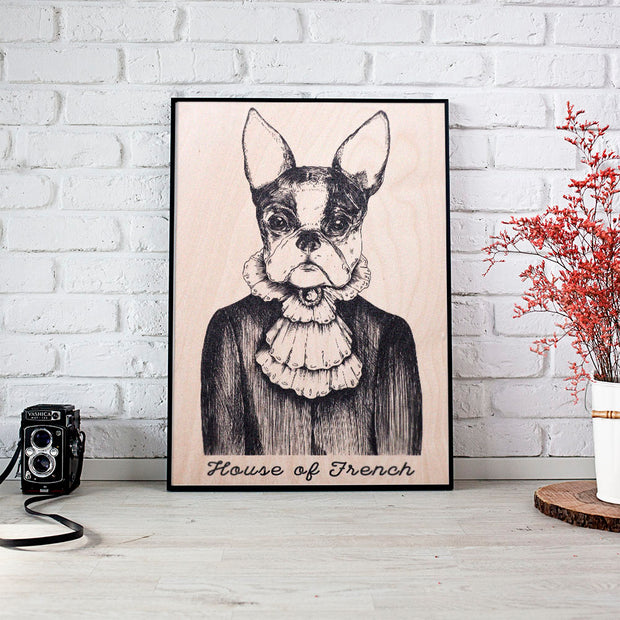 French Bulldog Wooden Poster - schmoo.shop