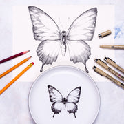 Lady Butterfly Dinner Plate - schmoo.shop