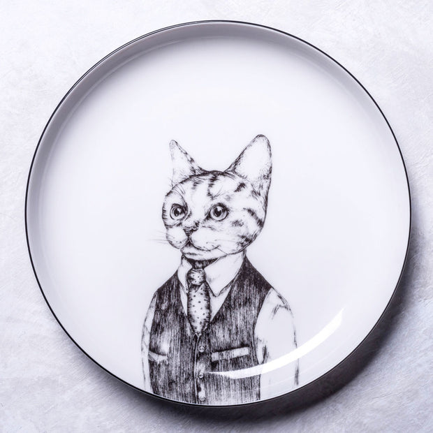 European Wild Cat Dessert Plate - schmoo.shop