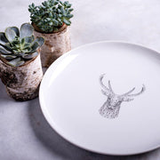 Geometric Deer Dinner Plate - schmoo.shop