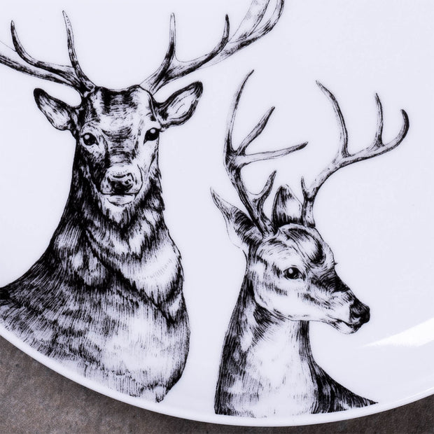 Two Deers Dinner Plate - schmoo.shop