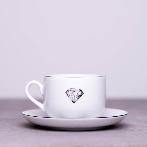 'French Dog' Cup & Saucer - schmoo.shop
