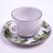Tropical Green Birds Cup, Saucer & Plate - schmoo.shop