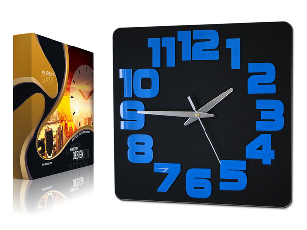 Black & Blue Wall Clock - schmoo.shop