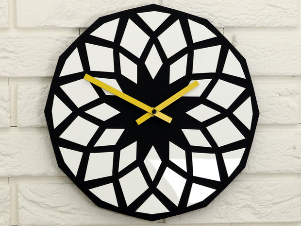 Lotos Black & White Wall Clock - schmoo.shop