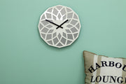 Lotos Stone & White Wall Clock - schmoo.shop