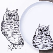 Hawk-Owl Dinner Plate - schmoo.shop